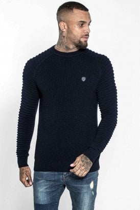 883 Police Don Knitted Jumper Navy