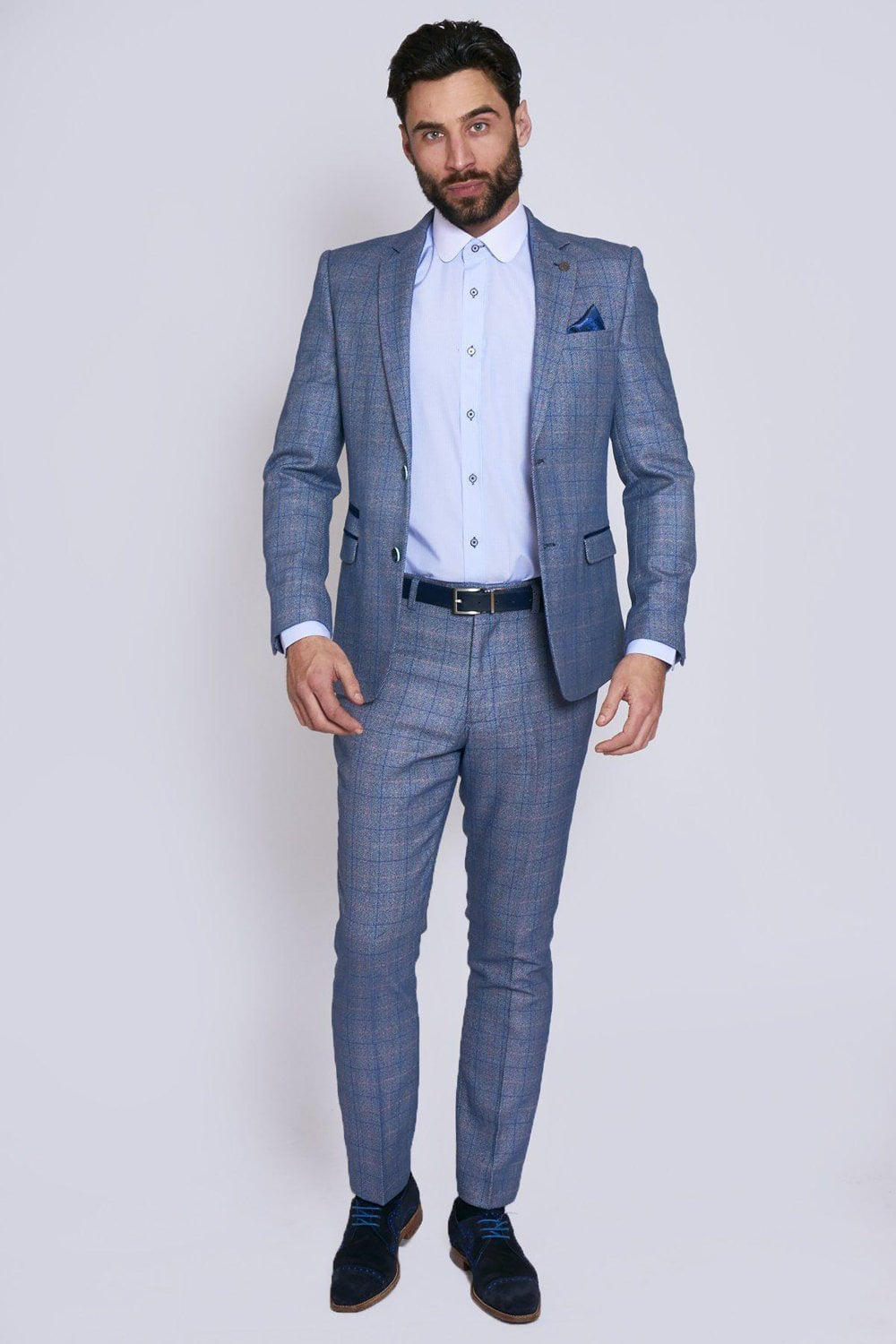 Harry Blue Tweed Two Piece Suit Suits From Fallen Hero Uk
