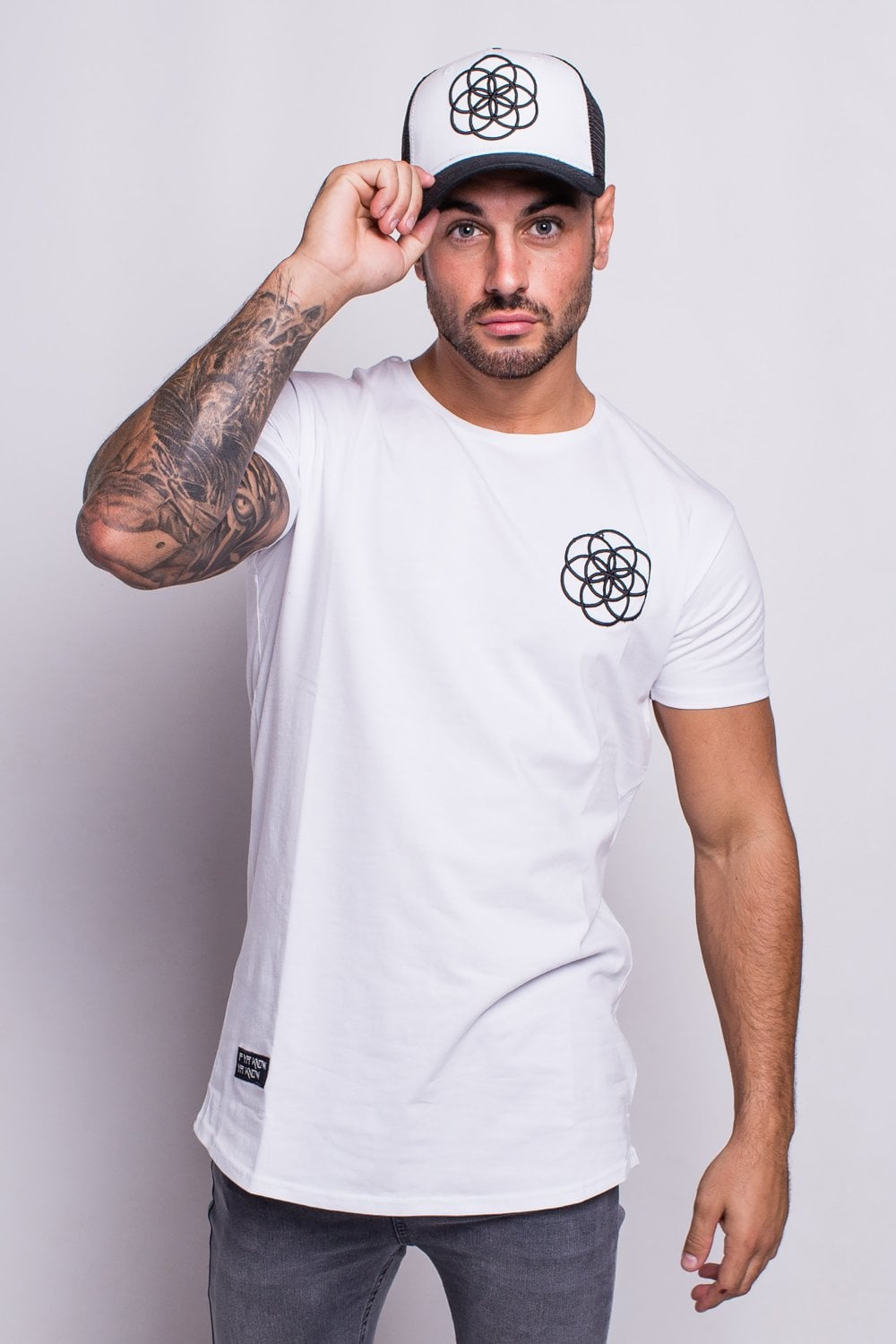 e81ab330 Scar Tissue Core Curved Hem T-Shirt White - Departments from Fallen Hero UK