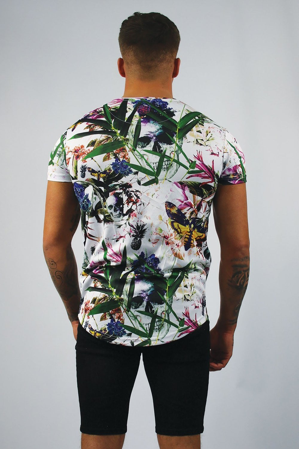 c76822a5a Scar Tissue Tropical T-Shirt - White - Departments from Fallen Hero UK